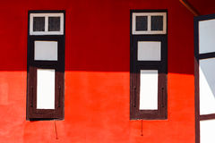 Abstract Rood Huis Royalty-vrije Stock Foto