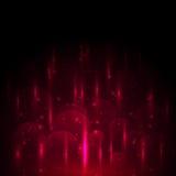 Abstract rood licht en bokeh gloeiende achtergrond Stock Fotografie