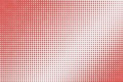 Abstract rood puntenpatroon met gradiënt halftone effect Royalty-vrije Stock Foto