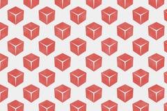 Abstract rood vakje patroon op document geweven achtergrond Stock Foto's