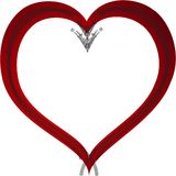 Abstract rood Valentine Heart Vector Royalty-vrije Stock Foto