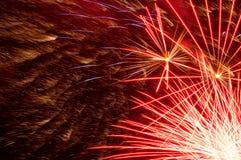 Abstract rood vuurwerk Royalty-vrije Stock Afbeeldingen
