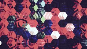 Abstract rood wit blauw de kleurenbehang van de giftdoos Royalty-vrije Stock Afbeeldingen