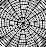Abstract roof looking like spider web. Abstract architecture photo of a roof looking like spider web Stock Photos