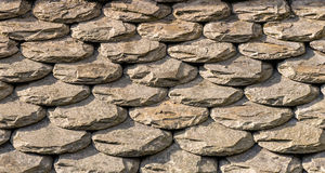 Abstract Roof Tiles Pattern Royalty Free Stock Photos
