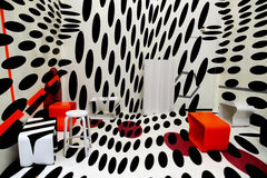 Abstract room with dots Stock Photo