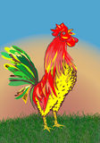 Abstract rooster. Royalty Free Stock Photo