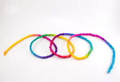 Abstract rope colorful Royalty Free Stock Images