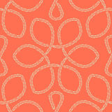 Abstract rope knot seamless pattern. Stock Image