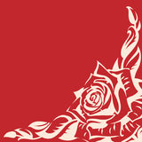 Abstract rose. On a red background Stock Photos