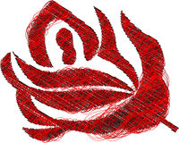 Abstract rose. Made of line vector illsutration Stock Photos