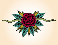 Free Abstract Rose And Thorns Tattoo Royalty Free Stock Image - 45958746