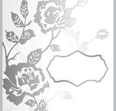 Abstract rose flower banner Royalty Free Stock Photos