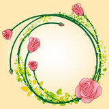 Abstract rose flower frame background Royalty Free Stock Image