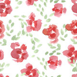 Abstract rose flower pattern. Watercolor seamless background. Abstract rose flower pattern. Hand drawn backdrop illustration royalty free illustration