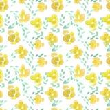 Abstract rose flower pattern. Watercolor seamless background. Abstract rose flower pattern. Hand drawn backdrop illustration vector illustration