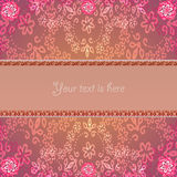 Abstract rose frame Stock Photo