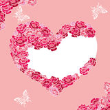 Abstract rose heart Stock Photo