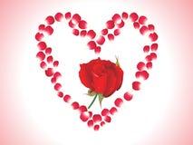Abstract rose heart. Vector illustration Stock Photos