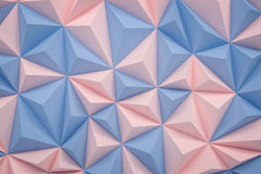 Abstract rose quartz serenity low poly background with copy spac Royalty Free Stock Photo