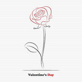 Abstract rose. Abstract Valentine's day rose for your design royalty free illustration