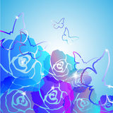 Abstract Roses Background Royalty Free Stock Photography