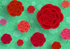 Abstract roses background Royalty Free Stock Photos