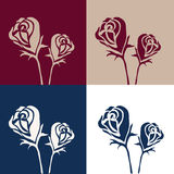 Abstract of roses background vector Stock Photos