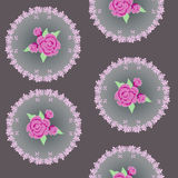 Abstract roses in circle Stock Images