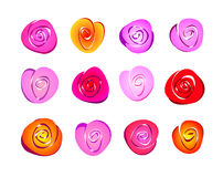Abstract roses. Flowers illustration background color vector stock illustration