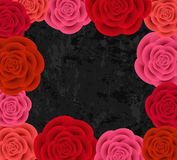Abstract roses frame Royalty Free Stock Images
