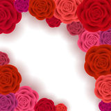Abstract roses frame Royalty Free Stock Photography
