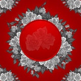 Abstract roses frame Stock Image