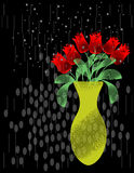 Abstract Roses in the Rain. Vector / Cliip Art Royalty Free Stock Photos