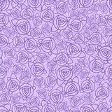 Abstract roses seamless pattern Royalty Free Stock Photos