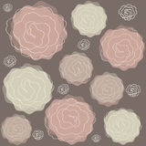 Abstract roses wallpaper. Abstract romantic roses texture background vector illustration