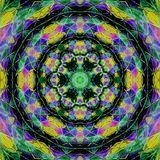 Abstract rosette kaleidoscope in brilliant colors vector illustration