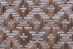 Abstract rotan fence texture. A closeup of a woven rotan fence Royalty Free Stock Photography