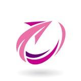 Abstract Rotating Arrow Icon Stock Image