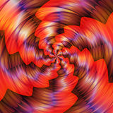 Abstract rotating background with rays and waves converging to one point. Red, yellow, orange and purple glowing background creating an illusion of movement. 3d Stock Images