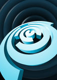 Abstract rotating circles with cut sectors Stock Images