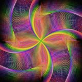 Abstract rotating colorful fractal background Stock Photography