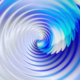 Abstract rotating 3d background with water waves Royalty Free Stock Photos