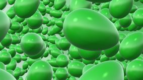 Abstract rotating green eggs stock footage