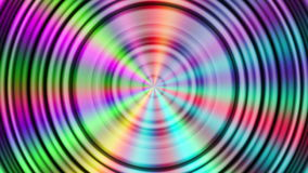 Abstract rotating rainbow colored circles background stock video footage