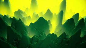 Abstract,rotating surface in green and yellow. In backgrounds stock video footage