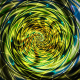 Abstract rotating swirling background of spirals with rays Stock Photo