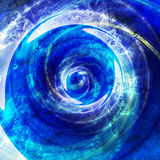 Abstract rotating swirling background with water drops. Blue, white and turquoise background with splashes of water Royalty Free Stock Photos