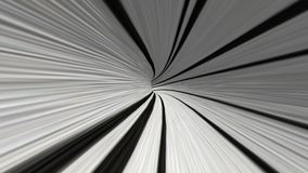 Abstract rotating tunnel in black and white. In backgrounds stock video footage