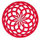 Abstract round 3d shape Royalty Free Stock Photography